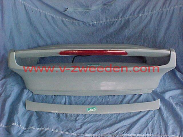 Turbo rear spoiler with brake light