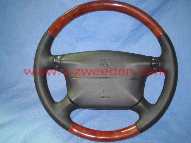 black leather with wood  tiptronic compl